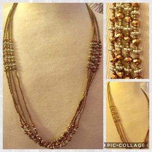 Jewelry - Brown multi strand necklace